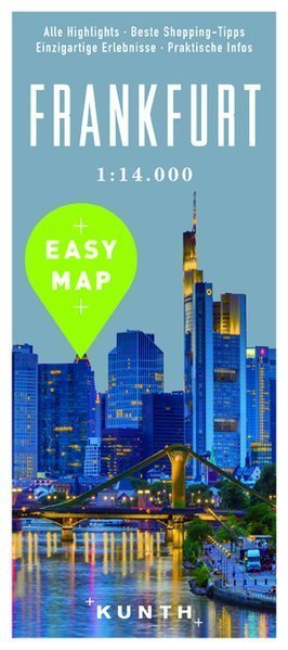 FRANKFURT EASY MAP mapa laminowana 1:14 000 KUNTH 2016