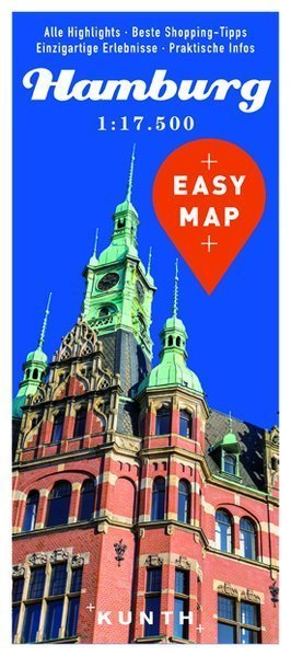 HAMBURG EASY MAP mapa laminowana 1:17 500 KUNTH 2016