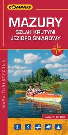 MAZURY SZLAK KRUTYNI JEZIORO ŚNIARDWY mapa turystyczna 1:60 000 COMPASS