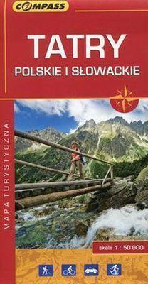 TATRY POLSKIE I SŁOWACKIE mapa turystyczna 1:50 000 COMPASS 2016 !!