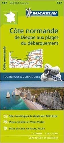 117 WYBRZEŻE NORMANDII COTE NORMANDE mapa turystyczna 1:150 000 FRANCJA MICHELIN 2016