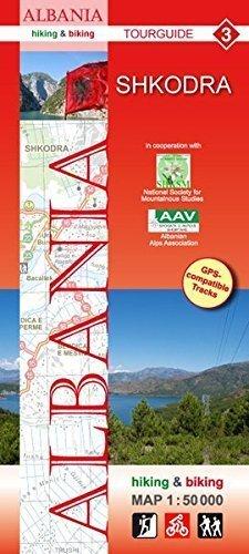 ALBANIA SHKODRA mapa turystyczna 1:50 000 HUBER KARTOGRAPHIE