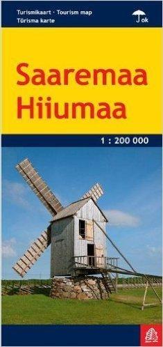 SAREMA HIUMA Saaremaa Hiiumaa WYSPY ESTONII  LAMINOWANA MAPA TURYSTYCZNA 1:200 000 JANA SETA