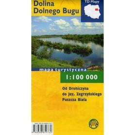 DOLINA DOLNEGO BUGU mapa turystyczna laminowana 1:100 000 TD