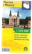 WARMIA I MAZURY mapa turystyczna 1: 250 000 wersja foliowana TD