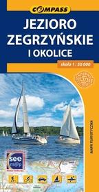 JEZIORO ZEGRZYŃSKIE I OKOLICE mapa turystyczna 1:50 000 COMPASS