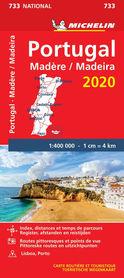PORTUGALIA MADERA mapa 1:400 000 MICHELIN 2020