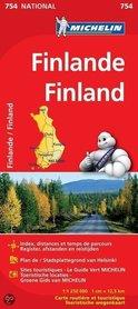 FINLANDIA 754 mapa samochodowa 1:1 250 000 MICHELIN