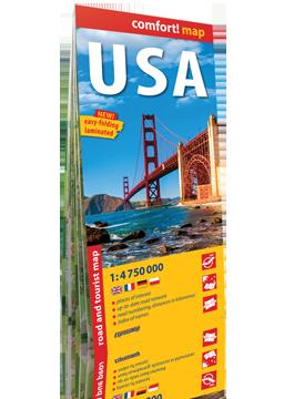 USA laminowana mapa drogowo-turystyczna 1:4 750 000 wersja angielska EXPRESS MAP 2016