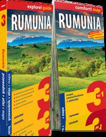 RUMUNIA 3w1: przewodnik + atlas + mapa EXPRESSMAP 2018