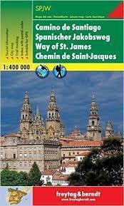 CAMINO DE SANTIAGO DROGA ŚW JAKUBA FB mapa turystyczna 1:400 000 freytag&berndt