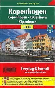 KOPENHAGA plan miasta laminowany 1:10 000 FREYTAG & BERNDT