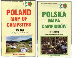 POLSKA MAPA CAMPINGÓW 1:750 000 GPS PFCC 2016 !! NOWOŚĆ