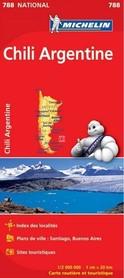 CHILE I ARGENTYNA mapa samochodowa 1:2 000 000 MICHELIN