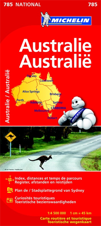 785 AUSTRALIA mapa samochodowa 1:4 000 000 MICHELIN