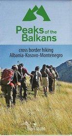 PEAKS OF THE BALKANS Albania - Kosowo - Czarnogóra 1:60 000 mapa turystyczna HUBER