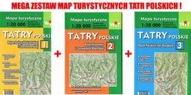 TATRY POLSKIE 3w1 mapy turystyczne 1:20 000 WIT 2015 !!