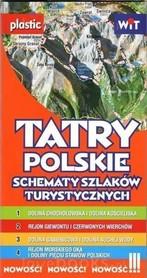 TATRY POLSKIE Schematy szlaków turystycznych FOLIOWANE WIT