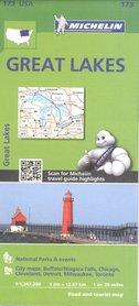 WIELKIE JEZIORA Great Lakes mapa samochodowa 172 MICHELIN