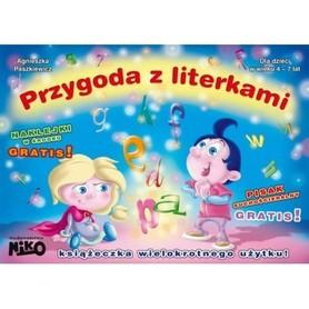 PRZYGODA Z LITERKAMI KSIĄŻECZKA DO RYSOWANIA + GRATIS wyd. NIKO