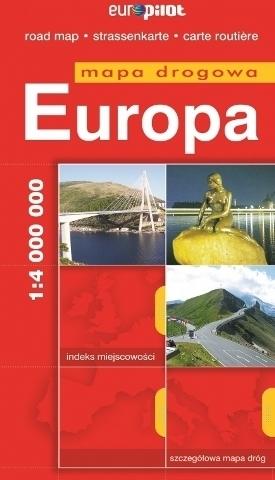 EUROPA mapa samochodowa  1:4 000 000 EUROPILOT