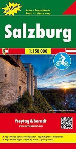 SALZBURG mapa  1:150 000 FREYTAG & BERNDT AUSTRIA