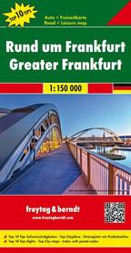 FRANKFURT OKOLICE  mapa samochodowa 1:150 000 FREYTAG & BERNDT 2015