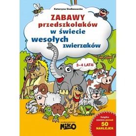 Zabawy przedszkolaków w świecie wesołych zwierzaków ćwiczenia NIKO