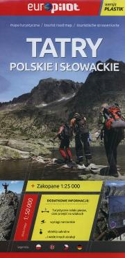 TATRY POLSKIE I SŁOWACKIE mapa turystyczna 1:50 000 laminowana EUROPILOT