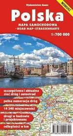 POLSKA mapa samochodowa 1:700 000 papierowa GAUSS 2016 !!