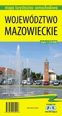 WOJEWÓDZTWO MAZOWIECKIE mapa turystyczno-samochodowa 1:270 000 wyd. BiK