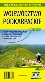 WOJEWÓDZTWO PODKARPACKIE mapa administracyjno-turystyczna 1:250 000 wyd. BiK