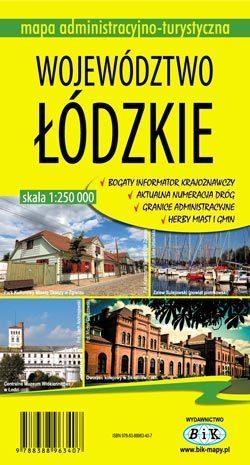 WOJEWÓDZTWO ŁÓDZKIE mapa administracyjno-turystyczna 1:250 000 wyd. BiK