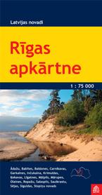 OKOLICE RYGI ŁOTWA Rigas apkartne mapa turystyczna 1:75 000 JANA SETA