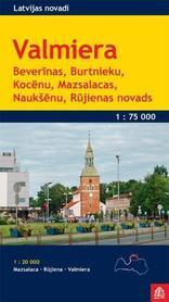 VALMIERA I OKOLICE ŁOTWA Valmiera mapa turystyczna 1:75 000 JANA SETA