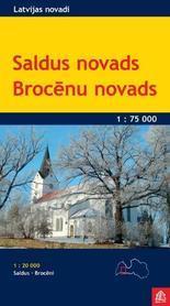 SALDUS I OKOLICE ŁOTWA Saldus Novads Brocenu Novads mapa turystyczna 1:75 000 JANA SETA