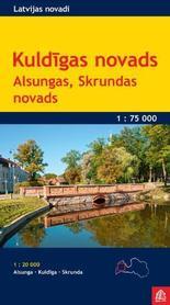KULDIGA I OKOLICE ŁOTWA Kuldigas Novads mapa turystyczna 1:75 000 JANA SETA