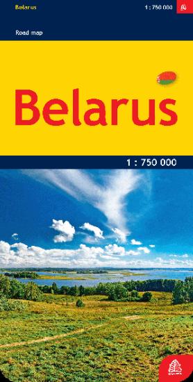 BIAŁORUŚ Belarus mapa samochodowa 1:750 000 JANA SETA