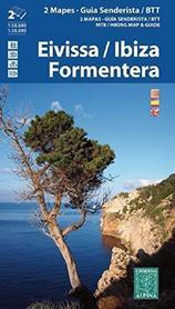 EIVISSA IBIZA FORMENTERA mapa turystyczna 1:50 000 1:30 000 ALPINA EDITORIAL