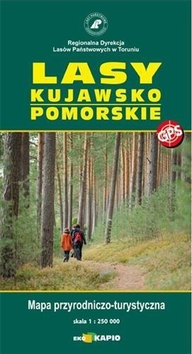 LASY KUJAWSKO POMORSKIE mapa przyrodniczo turystyczna 1:250 000 EKO-KAPIO 2016