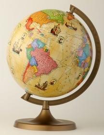 Globus 220 mm trasami odkrywców GŁOWALA