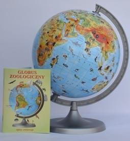 GLOBUS 220 mm zoologiczny z opisem ZACHEM
