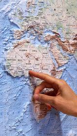 ŚWIAT mapa plastyczna reliefowa 1:40 000 000 LAC