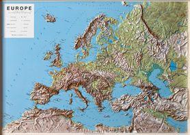 EUROPA mapa plastyczna reliefowa 1:7 500 000 LAC