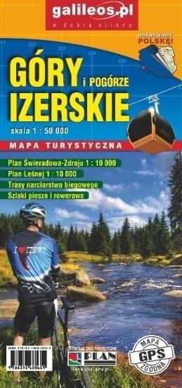 GÓRY i POGÓRZE IZERSKIE IZERY mapa turystyczna laminowana 1:50 000 PLAN 2020