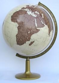 Globus 420mm antyczny podświetlany plastikowa stopka GŁOWALA 2038