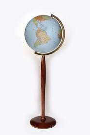 Globus 420 polityczno fizyczny podświetlany wysoka stopka GŁOWALA 0546