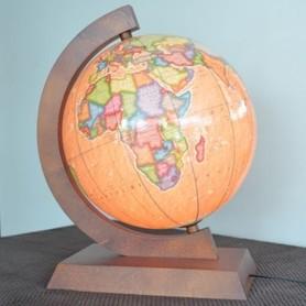 Globus 320mm retro polityczny podświetlany GŁOWALA 5336