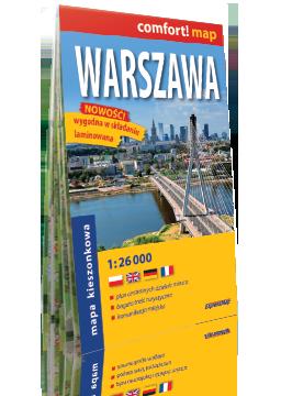 Warszawa laminowany plan miasta mapa kieszonkowa 1:26 000 wersja angielska EXPRESSMAP