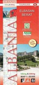 ALBANIA ELBASAN BERAT mapa turystyczna 1:50 000 HUBER KARTOGRAPHIE